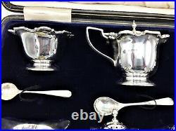 12 Piece Art Nouveau Silver Cruet Set William Hutton Birmingham 1906