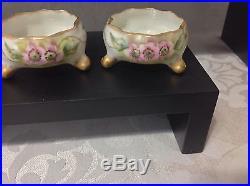 1889-1896 12ct Ceramic Arts Co for Belleek Porc Ind Footed Salt Cellars Perfect