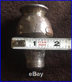 1889 Tiffany & Co Sterling Silver Hammered Japanese Style Salt & Pepper Shakers