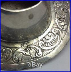 1891 RARE Antique. 833 Sterling Silver Salt Cellar & Pepper Shaker DUTCH Hats