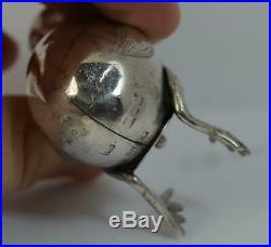 1906 Edwardian Novelty Solid Silver Chick Salt or Pepper Pot