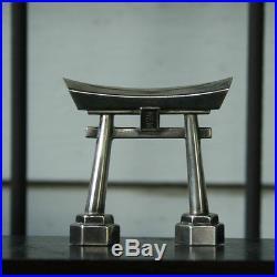 1920-1940s Japanese 950 sterling Silver salt & pepper Shakers Torri Gates Japan