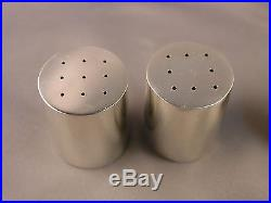 2 Pairs of Tiffany & Co. Sterling Silver Salt & Pepper Shakers #602 Mod Design