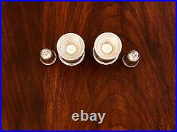 - (2) Redlich Sterling Silver Salt & Pepper Shakers Antique Pattern #2950
