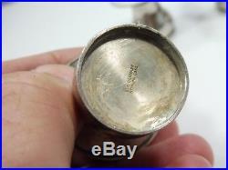 4 Ela Denmark Sterling Silver And Enamel Mushroom Salt And Pepper Shakers