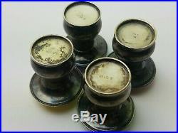 4 Sterling Silver Guilloche Enamel Mushroom Salt Pepper Shakers Solvvareindustri