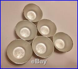 6 Anton Michelsen Denmark Sterling Silver Enamel Salt Pepper Shakers & Cellars