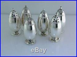 6pc Sterling GEORG JENSEN Salt & Pepper Shakers CACTUS