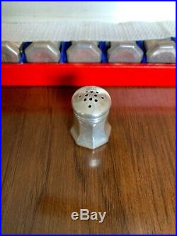 8 VINTAGE CARTIER STERLING SILVER SALT & PEPPER SHAKERS, ORIG. CASE New in Box