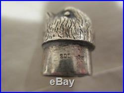800 German Silver Figural Bird Salt Pepper / Spice shaker container c1910
