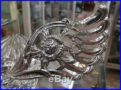 835 Continental Silver Master Swan Salt Glass bowl P000818
