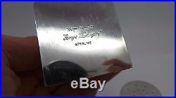 925 STERLING SILVER GEORGE WASHINGTON SALT & PEPPER SHAKERS 81.64 grams