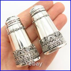 925 Sterling Silver Vintage Israel Set of Salt & Pepper Shakers