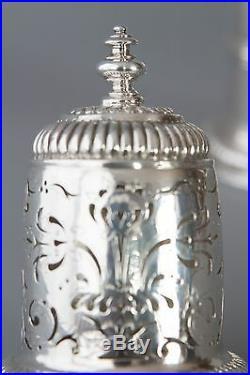 A rare William III britannia silver lighthouse caster, London 1698, Joseph Ward