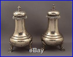 Antique Gorham 925 Sterling Silver Salt & Pepper Shaker Set