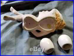 Antique 1950s Risque Nude Salt and Pepper Shaker Set Japan Ceramic Glamour