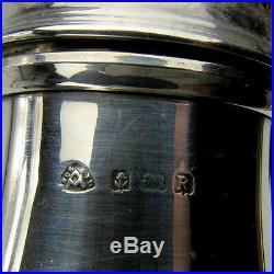 Antique English Sterling Silver Sugar Shaker Muffineer Brimingham Adie Bros