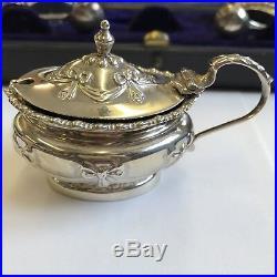 Antique Fine Quality Solid Silver Cruet Set John Edward Wilmot 1902