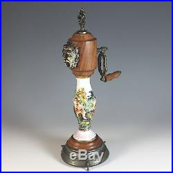 Antique French Peppermill with Reuge Music Box