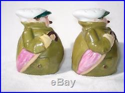 Antique GERMAN Porcelain Salt Pepper Mustard Jar Condiment Set FIGURAL WHIMSICAL