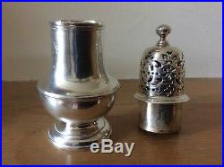 Antique George II Silver Spice/sugar/pepper Caster Muffineer. London. 1727
