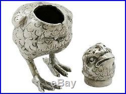 Antique George V Sterling Silver Chick Pepperettes