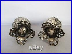 Antique German 800 Silver Salt And Pepper Shakers