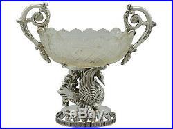 Antique German Silver and Cut Glass Table Cruet Set Circa 1880