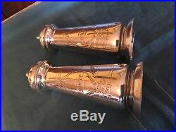 Antique Gorham Coin & Sterling Silver Aesthetic Large Salt & Pepper shakers 1871