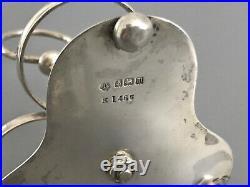 Antique Hallmarked Sterling Silver Cruet Set / Condiment Pot and Salt Cellar