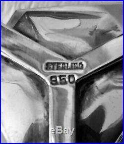 Antique Japanese Sterling Silver 950 Rickshaw Lantern Salt & Pepper Shaker Set