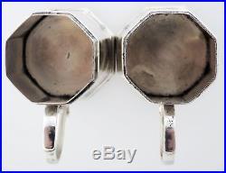 Antique Pair Tiffany & Co Sterling Silver Vermeil Salt & Pepper Shakers 224Grams