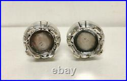 Antique Pair Victorian Tiffany & Co. Soldered Silver Pepperettes Pepper Shakers
