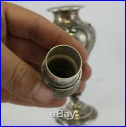 Antique SHREVE & CO. Sterling Silver SALT & PEPPER Shakers EMBOSSED Chased L@@K