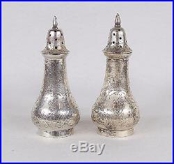 Antique Schofield 1027 Sterling Silver Salt & Pepper Shakers, C1890