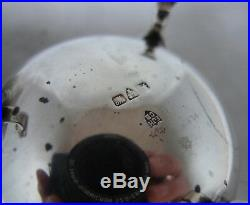 Antique Silver Cauldron Salts Haseler & Bill Chester 1922 110g A652017