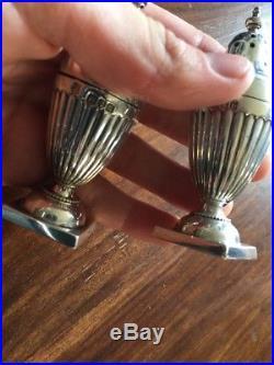 Antique Silver Hallmarked Silver Gilt Salt And Pepper Pots Shakers Cruet Set
