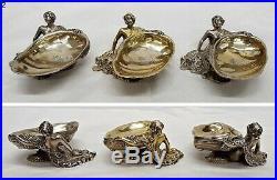 Antique Silver Salts Novelty Mermaid Robert Garrard &HENRY WILLIAM CURRY. # 9037