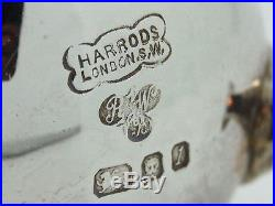Antique Silver pair of pepper pots Condiment London 1966 Harrods Ltd 219g