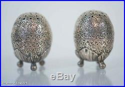 Antique Sterling Silver Goldsmiths Alliance London William Evans Salt Shaker Egg