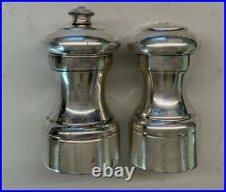 Antique Sterling Silver Peugeot Salt Shaker & Pepper Mill