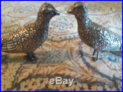 Antique Sterling silver Salt and Pepper shaker (peacock. 925)