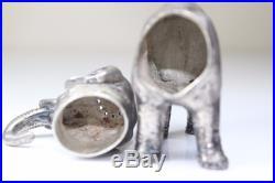 Antique Vintage 800 SILVER Novelty = ELEPHANT Salt / Spice / Pepper Pot Shaker