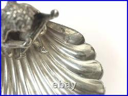 Antique / Vintage Silver CHERUB PLAYING HARP Christmas Salt Hallmarked