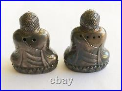 Antique Vinyage Sterling Buddha Salt & Pepper Shakers