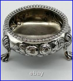 Antique, large, sterling silver salt cellar Robert Harper 1862