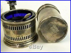 Antique vintage solid silver job lot of salts & pepper pots, Scrap 158grams