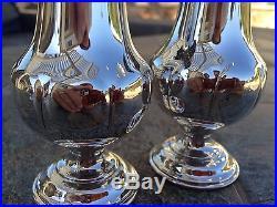 Beautiful Quality Wallace Grand Grande Baroque Sterling Salt Pepper Shaker Set
