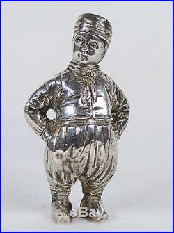 Berthold Hermann Muller Sterling Silver Dutch Girl & Boy Salt Pepper Shakers