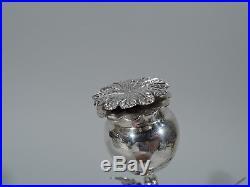 Buccellati Salt & Pepper Shakers Modern Flowers Italian Sterling Silver